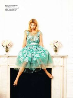 clemence poesy for glamour UK  COLOR!