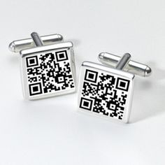 Secret Message Personalised QR Code Cufflinks - Personalised gifts | tainbraeworld.co.uk