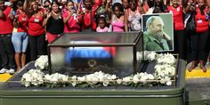 Leftist Friends Gather As Castro Funeral Cortege Reaches Final Destination