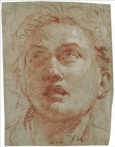 Giovanni Battista Tiepolo (1696-1770) Head Of A Man Looking Up (210 x 162 mm)