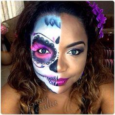 8 pretty halloween makeup ideas - sugar skull