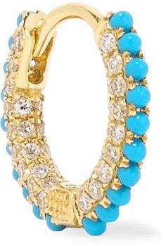 Maria Tash - 18-karat Gold, Diamond And Turquoise Earring - one size