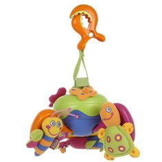 Tiny Love Clip and Go Musical Mobile A portable mobile which can be attached to babys cot, pushchair or even baby carrier with a velcro strap and chunky plastic crocodile clip. Featuring 5 tunes, soft animals and colourful images. http://www.comparestoreprices.co.uk/baby-toys/tiny-love-clip-and-go-musical-mobile.asp