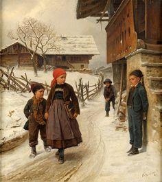 """Gleich geht's los / It's Just About To Start"". Benjamin Vautier (1829-1898), Swiss painter."