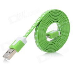 Quantity: 1; Color: Green + white; Material: PC + copper; Compatible Models: Samsung N7100 / i9300 / i9220 / i9100 / i9103 / N9, etc; Cable Length: 100 cm; Connector: USB 2.0 / Micro USB; Packing List: 1 x Data cable; http://j.mp/1ljEioC