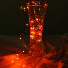 Little Red Fairy Copper String Lights - 20-Strand LED