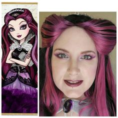 Phyrra Cosplaying Ever After High Raven Queen