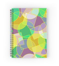 Stained glass #colorful #geometric mosaic #pattern by Natalia Bykova Spiral #Notebook on #Redbubble. #abstract, #abstraction