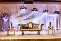 Discover thousands of images about Photo: Floral & Decor Indian Wedding Stage, Wedding Stage Design, Wedding Hall Decorations, Wedding Reception Backdrop, Marriage Decoration, Engagement Decorations, Wedding Mandap, Wedding Themes, Backdrops For Parties