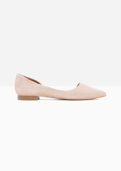 & Other Stories | Asymmetric Suede Ballerina