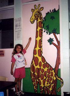 """Tall Giraffe   76"""" x 32""""    Location: De Lacey School, Carpentersville, IL"""