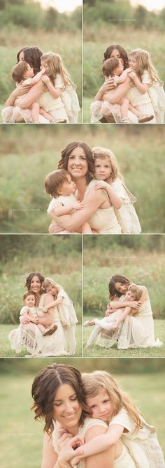 Such a sweet photo shoot of mom and her two girls. Romantic and timeless.