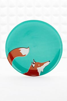 Urban Outfitters, Fox Plate in Blue