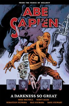Abe Sapien - A Darkness So Great - Trade Cover