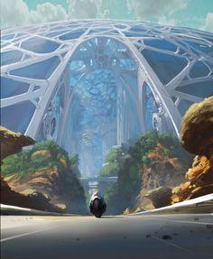 New science fiction concept art futuristic architecture Ideas Futuristic City, Futuristic Technology, Futuristic Architecture, Futuristic Motorcycle, Amazing Architecture, Technology Gadgets, Technology Apple, Installation Architecture, Technology Quotes