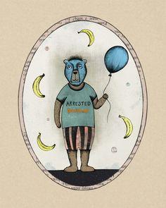 Arrested Development  - Funke Bear Illustration