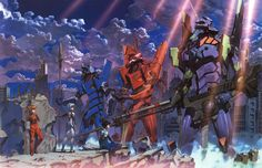 Neon Genesis Evangelion. The classic angsty apocalyptic mecha series. Shows like Attack on Titan owe a lot to this entry from Gainax.