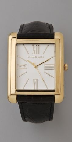 I'm really not much of a watch person, but I would absolutely wear this beauty. Michael Kors Bradley Watch