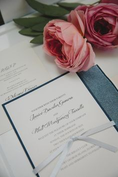 DIY Wedding Invitations | Backyard Style Southern Wedding | Stephanie W Photography | Bridal Musings Wedding Blog