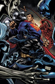 #Superman #Batman #Fan #Art. (SUPERMAN/BATMAN #34 Cover) By: Pat Lee. (THE * 5 * STÅR * ÅWARD * OF: * AW YEAH, IT'S MAJOR ÅWESOMENESS!!!™)[THANK U 4 PINNING!!!<·><]<©>ÅÅÅ+(OB4E)