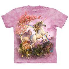 Awesome Unicorn Classic Adult Cotton Tee 4X Pink