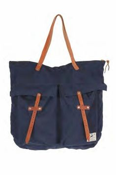 Will Leather Goods Helmut Bag in Navy