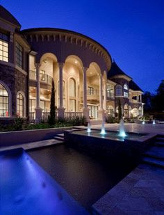 Luxury Homes and Plans, Designs for Traditional Castles,Villas, Mansions and Palaces. Contemporary and classical blueprints by Architect in French Italian Mediterranean Florida California house style just in case I win the lotto by judy Luxury Homes Dream Houses, Luxury House Plans, Dream Homes, Home Design Floor Plans, House Floor Plans, Style At Home, French Castles, Mediterranean Homes, Waterfront Homes