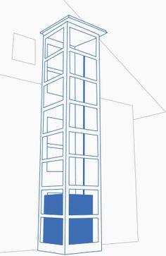 aufzug im treppenhaus aussenlift pinterest aufzug treppenhaus und sparen. Black Bedroom Furniture Sets. Home Design Ideas