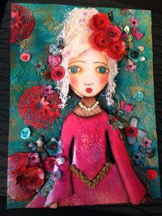 Müge'nin kağıt rölyef çalışması-Sümbül Eldek Dolls
