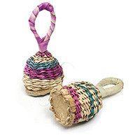 Straw Wicker Rattles - Bambara