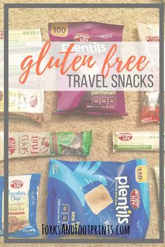 If you're gluten free use this list to find the best #glutenfree travel snacks for your next adventure!