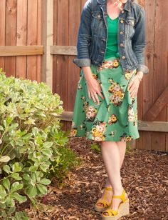 what i'm wearing {vintage florals}