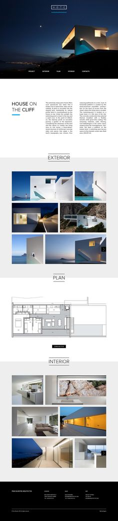 Website design for architecture project by Eugene Maksymchuk, via Behance