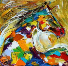Original oil painting The Pony by Karensfineart
