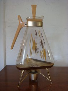 Vintage Coffee Pot Pitcher Mid Century Housewares by retrocorrect