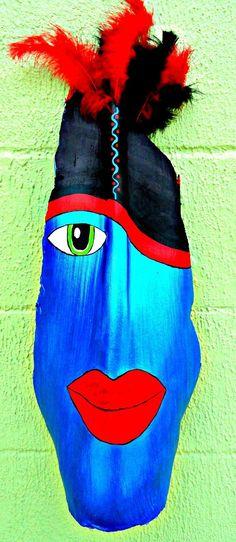 IntoTheTrees Original Florida Palm Frond Art by IntoTheTrees Palm Tree Crafts, Palm Tree Art, Palm Trees, Palm Frond Art, Palm Fronds, Nature Crafts, Nature Decor, Tiki Faces, Cheap Art