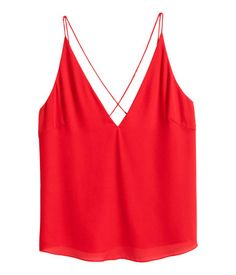 V-neck Top | Red | Ladies | H&M US
