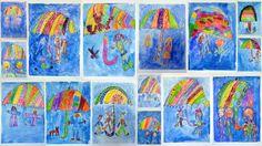 Koho schovám pod svůj deštník? - voskovky + vodovky - 1. třída Elsa, Artwork, Work Of Art, Auguste Rodin Artwork, Jelsa
