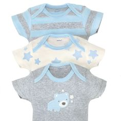 Gerber Baby Boys 3 Pack Organic Short Sleeve Onesies Brand Bodysuit Gray/Light Blue 03 Months ** Read more reviews of the product by visiting the link on the image. (This is an affiliate link) Gerber Baby, Stylish Baby Clothes, Grey Bodysuit, Baby Shop, Baby Boy Outfits, Nice Dresses, Baby Boys, Light Blue