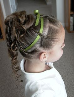 Shaunell's Hair: Little Girl's Hairstyles- How to do a Twist Braid Updo Video Tutorial