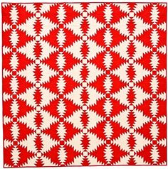 """""""Two-Color Pineapple"""" by Anita Grossman Solomon from the special exhibit, Ruby Jubilee: A 40-Year Celebration. 2014 Houston International Quilt Festival."""