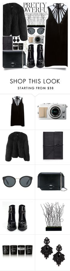 """""""#297"""" by vilte-m ❤ liked on Polyvore featuring Christopher Kane, Balenciaga, Bynd Artisan, Prada, Givenchy, Bella Freud, Tasha and Pier 1 Imports"""