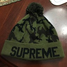 Supreme Beanie Camo 100% authentic, will ship day of purchase, good condition Supreme Accessories Hats