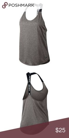 NWT Nike Dri Fit Tank Grey and Black NWT, never worn. Really comfy and airy. Nike Tops Tank Tops