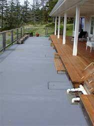 20,000 Concrete Cistern Under Deck