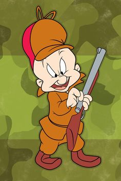 "Elmer Fudd is a short, bald-headed, game hunting little gentleman with a speech impediment. He tries to be tough, but his speech pwowbwem and his relatively low intelligence makes him only minor threat to those who cross him. Elmer Fudd can generally be seen hunting Bugs Bunny, as he did in his first formative appearance hunting an early Bugs in Chuck Jones' ""Elmer's Candid Camera""(1940.)"