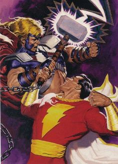 Captain Marvel vs Thor