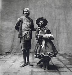 """Irving Penn, """"Couple with Dog, Cuzco"""", 1948 (Worlds in a Small Room)"""