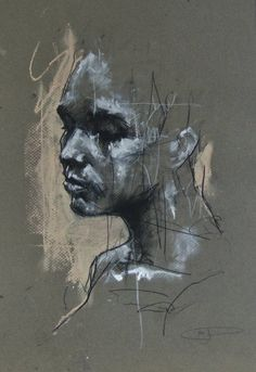 """""""I want to move people. I don't want to produce necessarily beautiful things – things that have got any great conceptual or assumed profundity. I think the strength… Figure Painting, Figure Drawing, Painting & Drawing, Charcoal Art, Art Sketchbook, Portrait Art, Art Techniques, Aesthetic Art, Art Inspo"""
