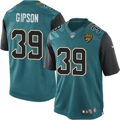 Youth Nike Jacksonville Jaguars #39 Tashaun Gipson Limited Teal Green Team Color NFL Jersey